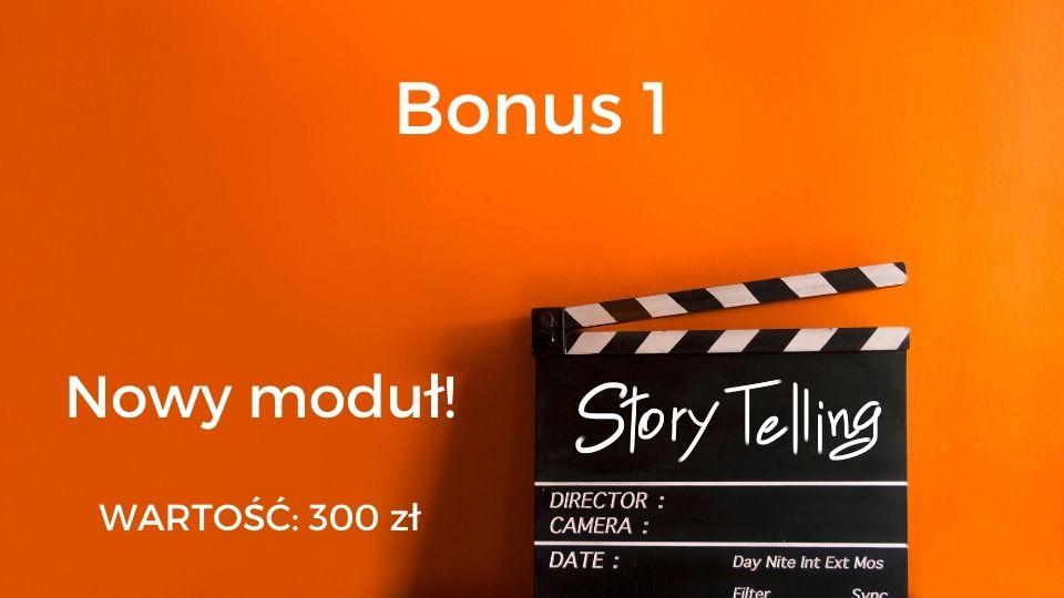 Bonus 1 - storytelling