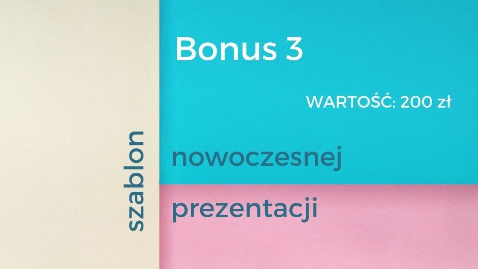 Bonus 3 - szablon nowoczesnej prezentacji